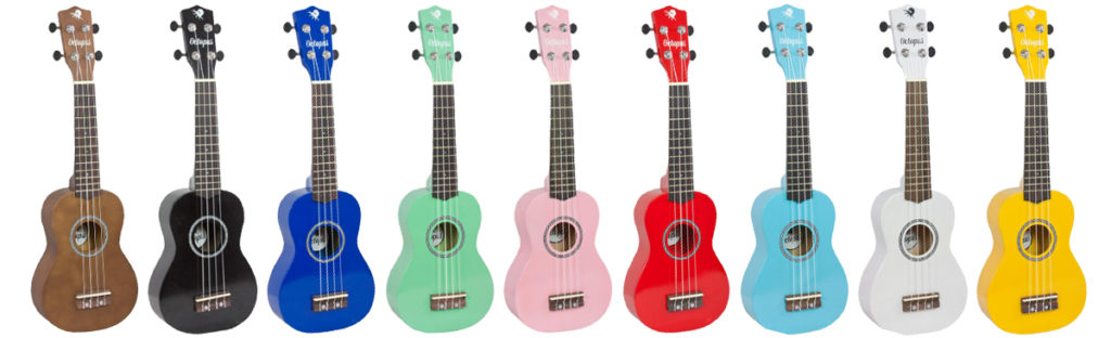 Ukeleles baratos Octopus, colores disponibles