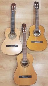 Diferentes medidas de guitarras para niños