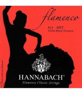 CUERDAS FLAMENCO HANNABACH 827SHT SET 6 CUERDAS