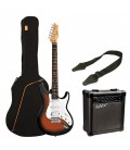 GUITARRA ELECTRICA PACK ASHTON STRATO SUNBURST