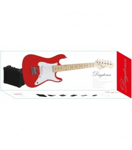 PACK GUITARRA ELECTRICA JUNIOR DAYTONA STRATOCASTER ROJA