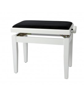 BANQUETA PIANO REGULABLE BLANCO BRILLANTE GEWA