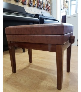 BANQUETA PIANO REGULABLE CON CAJON NOGAL BRILLANTE