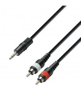 CABLE RCA MINI JAK ESTEREO 1M ADAM HALL K3YWCC0100