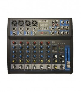 MESA DE MEZCLAS FX USB EK AUDIO KT08UP