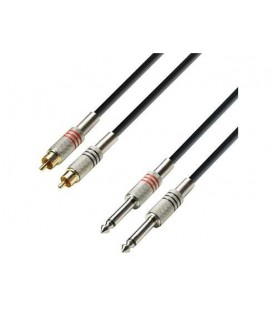 CABLE ADAM HALL K3TPC0100 RCA-2JACKS 1M